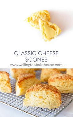 Made these March 2020 to go with Shepherd's Pie - delicious and easy to make. I made a large round, flattened to one inch, cut into wedges and sprinkled more cheddar on top. British Scones, British Cheese, Healthy Scones, Savory Scones, Savoury Cake, Muffins, Easy Cheese, British Baking, Menu