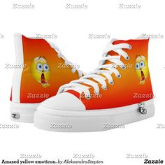 Amazed yellow emoticon. High-Top sneakers Custom Sneakers, Emoticon, On Shoes, Converse Chuck Taylor, High Tops, High Top Sneakers, Your Style, Pairs, Unisex
