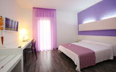La nostra nuova camera doppia Charme  Our new Charming double room Unsere neuen Charme Doppelzimmer   #beautiful #relax #new #room #violet #pink #modern #luminous
