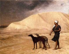 Jean-Léon Gérôme (French 1824–1904) Team of Dogs in the Desert, 1866. Oil on panel, 21.5 x 27.3 cm (8.46 x 10.75 in). Walters Art Museum, Baltimore.