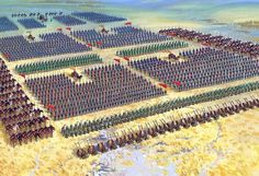 Battle Formation. 500 wide and 10 deep, all highly trained professional soldiers.