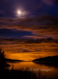 Moon over the River by Michael Flaherty on 500px