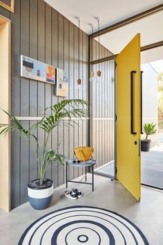 Wonderful Bright Yellow Door // Modern Home Design // Elliot Road Home By Klopper And  Davis Architects