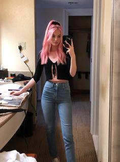 Light Pink Hair, Pastel Pink Hair, White Hair, Hair Dye Colors, Cool Hair Color, Mode Grunge, Beauty And Fashion, Coloured Hair, Dye My Hair