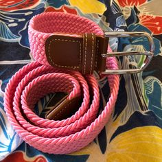 Stretch to fit, this woven belt looks great worn with navy or black trousers or jeans Blue Brown, Green And Grey, Woven Belt, Black Trousers, Pink Candy, Fabric Patterns, Belts, Chevron, Navy