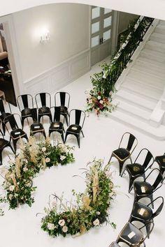 A Steampunk-Inspired Wedding in Toronto Unique and edgy wedding ceremony set up Wedding Ceremony Ideas, Wedding Altars, Wedding Tips, Backdrop Wedding, Circle Wedding Ceremonies, Wedding Venues, Wedding Aisles, Marquee Wedding, Outdoor Ceremony