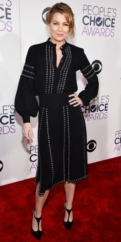 See All the Best Looks from the 2016 People's Choice Awards Red Carpet - Ellen Pompeo  - from InStyle.com