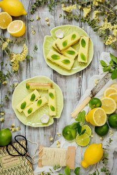 Barritas de limón. Receta vegana.