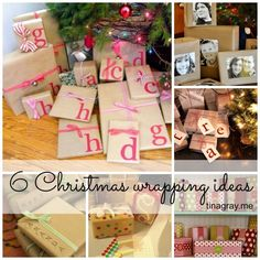 6 Christmas gift wrapping ideas