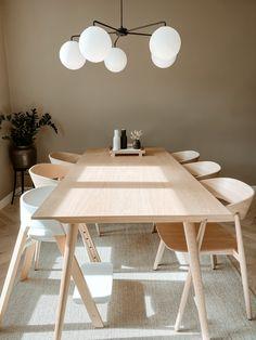 Danish Furniture, Dining Room Design, Scandinavian Design, Interior Decorating, Dining Table, Flooring, Photo And Video, Inspiration, Beautiful