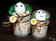 Kleines Ostergeschenk Jar, Magazine, Happy, Decor, Easter, Homemade, Jars, Decorating, Dekoration