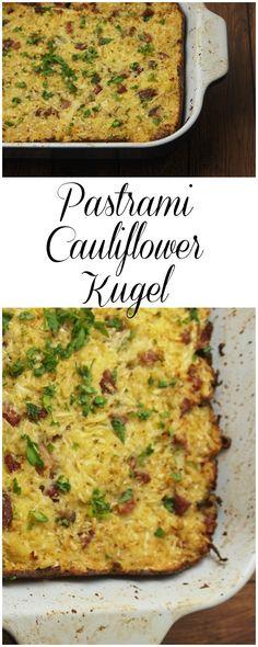 Cauliflower Pastrami Kugel Recipe makes a flavorful kugel a little healthy.