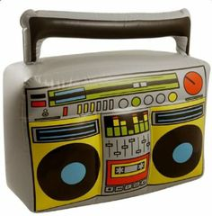 BLOW UP INFLATABLE BOOM BOX PARTY COSTUME ACCESSORY HIP HOP 80'S FANCY DRESS: Amazon.co.uk: Toys & Games