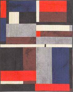 """Gee's Bend Quilt - Blocks & Strips adapted by Debby Kratovil; machine quilted by Connie Gallant. Size: 47"""" x 52"""""""