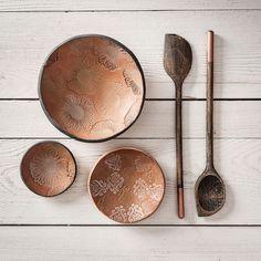 Ceramics, Tableware, Fabric, Handmade, Stamping, Other, Simple, Deco, Ceramica