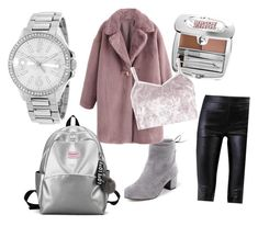 ###winter#outfit### by efsi on Polyvore featuring polyvore fashion style Boohoo Helmut Lang Juicy Couture Benefit clothing
