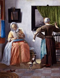 Woman Reading a Letter, (1665)