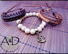 Conjunto pulseiras brown
