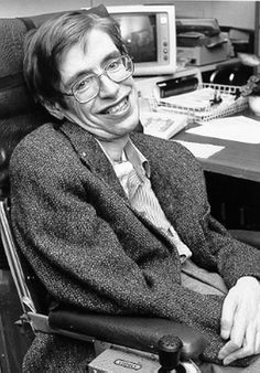 Stephen Hawking - early photo.  I don't agree with all his views or theories, but he a brilliant man, nonetheless!