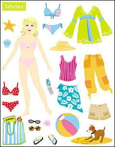 Miss Missy Paper Dolls: sticker paper dolls