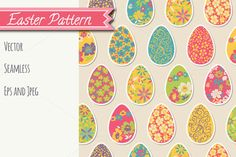 Easter Seamless Pattern by Sunny Art Shop on Creative Market