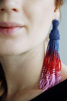 DIY - how to make your own tassel beaded earrings a la Oscar de la Renta