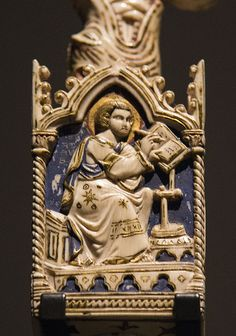 Ivory St John Detail from a Medieval crozier Victoria and Albert Museum
