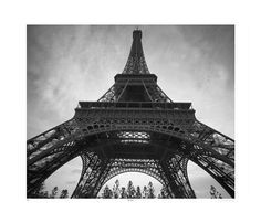 TROWBRIDGE - Eiffel Tower - Peering up at the iconic and impressive structure, we admire the towering splendour of the Eiffel Tower. The eng...