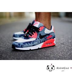 Nike Air Max 90 X Atmos Bleached Denim Camo Shoes