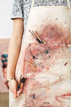 · battle scars on apron ·