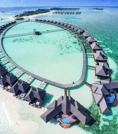 "4,232 Likes, 51 Comments - Hotels & Resorts  (@hotelsandresorts) on Instagram: ""Olhuveli Beach  @seefromthesky #hotelsandresorts #olhuveli"""