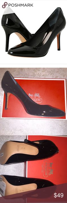 Coach Nala Black Patent Leather Pumps Classic black pumps, perfect for any occasion. Well made shoes. Brand new in the box. Size 11. 🚭 Smoke free home. Coach Shoes Heels