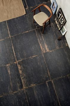 Rustic square plywood floor More
