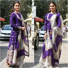 Alia Bhatt looks beautiful beyond belief at Kalank's Trailer launch. Excited to watch the trailer? WhatsApp us for Purchase & Inquiry : Buy Best Designer Collection from padukon Party Wear Indian Dresses, Dress Indian Style, Pakistani Dresses, Indian Wear, Indian Outfits, Pakistani Suits, Anarkali Dress, Dhoti Saree, Saree Blouse