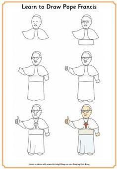 Learn to Draw Pope Francis (So cute!!)