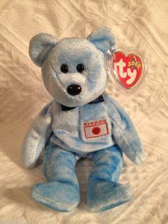 Ty NIPPONIA ~ japan exclusive bear ~ TEDDY BEAR~ MWMT'S ~ RETIRED ~ BEANIE BABY