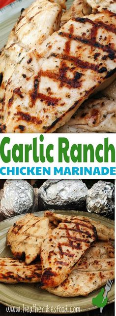 The Best Garlic Ranch Chicken Marinade– easy and delicious! A quick and easy marinade for chicken that is full of flavor and makes grilling, sauteing, or baking delicious chicken a snap. Chicken Marinade Recipes, Grilling Recipes, Cooking Recipes, Homemade Marinades For Chicken, Seasoning For Chicken, Grilled Chicken Marinade Easy, Ranch Seasoning, Healthy Recipes, Grilling Tips