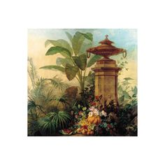 Flowers and Tropical Plants Wall Art Print (¥3,955) ❤ liked on Polyvore featuring home, home decor, wall art, blossom wall art, flower wall art, flower home decor, flower stem and garden wall art