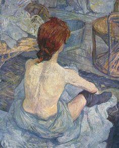 Rousse dit aussi La Toilette by Henri de Toulouse-Lautrec (1889). #art #impressionism #paris