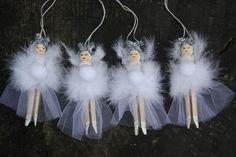 Madera blanco hada Peg Doll por KisstheFrogx en Etsy