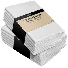 Cotton Dinner Napkins White - 12 Pack inches inches) Soft and Comfortable - Durable Hotel Quality - Ideal for Events and Regular Home Use - by Utopia Bedding - Kitchen Central Products Directory
