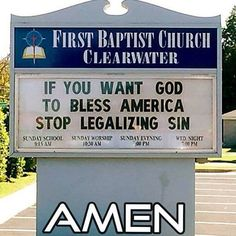 #ChurchSign -@gmx0 #BaptistMemes Find us on Facebook: The Independent Funny Baptist Find us on Instagram Twitter Pinterest Snapchat Tumblr: baptistmemes
