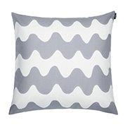 Pikku Lokki cushion cover, grey, by Marimekko. Modern Throw Pillows, Grey Pillows, Toss Pillows, Couch Pillows, Decorative Throw Pillows, Accent Pillows, Living Room Cushions, Marimekko, Luxury Sofa