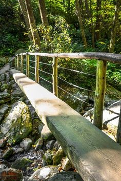 You'll hike over plenty of bridges like this if you follow this list of things you can't miss in Great Smoky Mountains National Park!