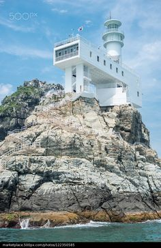 Oryukdo lighthouse 2 - stock photo/S.Korea