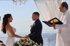 Such an Amazing Couple  Jennifer & Ian 8th May 2018 Celebrant #MrJohnKallavaris Wedding planners #simplymediterraneanweddings.co.uk