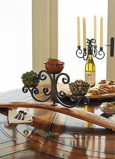 Bring a piece of wine country to your buffet table with the Wine Cask Three-Bowl Server, constructed from a wine barrel and serves three party-perfect items your guests will love.