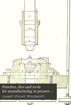 """""""Punches, dies and tools for manufacturing in presses"""" - Joseph Vincent Woodworth, 1907, 483"""
