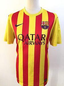 BARCELONA Away Football Shirt 2013-2014 NIKE Size L Large | eBay