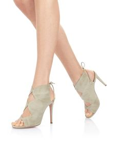 AQUAZZURA - Heels - Pasadena 105 Khaki green Suede